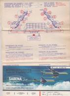 Ticket Sabena + Plan Zaventem - Billets D'embarquement D'avion
