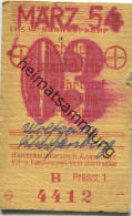 Berlin - Schülermonatskarte Zur Fahrt Auf Der Stadt- Ring- Und Nordsüdbahn - Preisstufe 1 1954 - Chemins De Fer