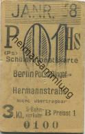 Berlin - Schülermonatskarte - Berlin Potsd. Ringbf. Hermannstraße - 3. Klasse S-Bahnverkehr Preisstufe 1 1938 - Chemins De Fer