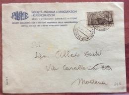 FIERA DI MILANO 1949 L. 20 ISOLATO SU BUSTA PER MODENA IN DATA 24/4/1949 - Werbepostkarten