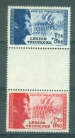 FRANCE - Yv. Nr 565/566a - Légion Tricolore - MNH** - Cote 27,50 € - France