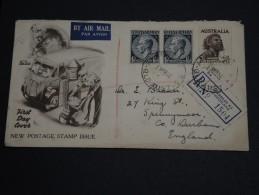 AUSTRALIE - Enveloppe En Recommandée Pour La Grande Bretagne En 1952 - A Voir - L 1043 - 1937-52 George VI