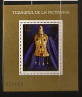 Roumanie Romania 1973 N° BF 108 ** Trésor, Pietroasa, Or, Ruby, Pectoral, Diamant, Aigle, Beauté, Richesse, Goths, URSS - 1948-.... Republics