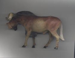 Figurine En Composition ELASTOLIN, LINEOL, ... Gnou, Buffle ,... - Zoo, Animal,... - Figurines