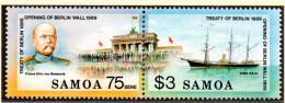 """(BT4) Samoa  Mi 701/02 (1 ZD) """"Öffnung Berliner Mauer - Brandenburger Tor""""  ** Postfrisch - Samoa"""