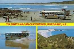 NEW ZEALAND - The Ninety Mile Beach Excursion, Northland, Gel., Sondermarke - Neuseeland