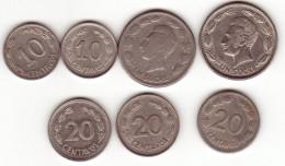 Ecuador. Set Of 7 Coins 1946-1980 - Ecuador