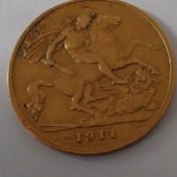1911 HALF  SOVEREIGN GOLD COIN FROM GEORGIVS V - 1902-1971 : Monete Post-Vittoriane