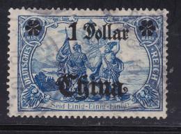 DE Deutsche Post In China Mi#45 IA Gestempelt - Deutsche Post In China