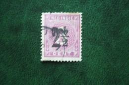 Hulpuitgifte 2 1/2 Ct Overprint NVPH 39 1902 Gestempeld / Used NEDERLAND INDIE / DUTCH INDIES - Niederländisch-Indien
