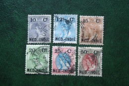 Hulpuitgifte 10 Ct - 50 Ct Overprint NVPH 31-36 1900 Gestempeld / Used NEDERLAND INDIE / DUTCH INDIES - Niederländisch-Indien