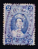 OZ Australien Queensland 2 Sh Mi#63 Gestempelt Fiskal - 1860-1909 Queensland