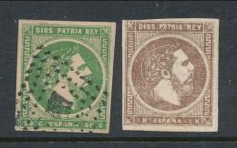 Spain 1875 Edifil # 160-161 - 1 Mars. Carlos VII (Vascongadas Y Navarra,  USED And MH(*) - 1889-1931 Kingdom: Alphonse XIII