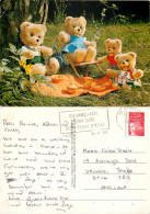 Teddy Bears, Picnic, France Postcard Posted 1999 Stamp - Non Classificati