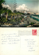 La Plage, Cannes, Alpes-Maritimes , France RP Postcard Posted 1956 Stamp - Cannes