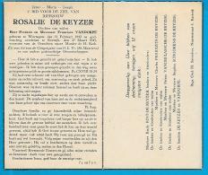 Bidprentje Van Rosalie De Keyzer - Wortegem - Kortrijk - 1842 - 1945 (103 Jaar) - Images Religieuses