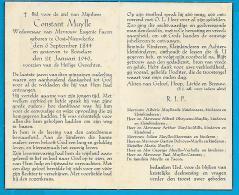 Bidprentje Van Constant Muylle - Oost-Nieuwkerke - Roeselare - 1844 - 1946 (101 Jaar) - Images Religieuses