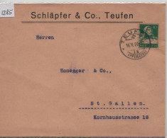 1930 Tell 172 - Stempel: Teufen (Appenzell) Schläpfer & Co. - Suisse