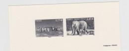 2012 - GRAVURE OFFICIELLE - U.N.E.S.C.O. - Stonehenge Et Eléphants D'Afrique - Timbres De Service N° YT : 154 Et 155 - Epreuves De Luxe