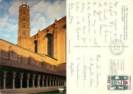 Cloitre Du Couvent, Toulouse, Haute-Garonne , France Postcard Posted 1976 Stamp - Toulouse