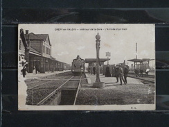 F03 - 60 - Crepy En Valois - Arrivée D'un Train - 1918 - Etat A Voir - Crepy En Valois