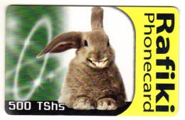 TANZANI REF MV CARDS TAN-TT-27 500 TSHS RAFIKI RABBIT 1