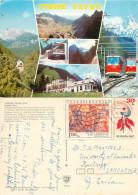 Trains Trams, Vysoke Tatry, Czech Republic Postcard Posted 1986 Stamp - Czech Republic