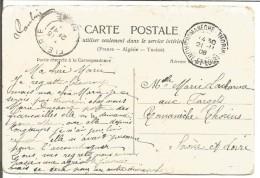 OBLITERATION SUR CARTE DE ROMANECHE-THORINS (SAONE ET LOIRE) DU 21/11/1908 - Marcophilie (Lettres)
