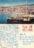 Losinj Ship, Rijeka, Croatia Postcard Posted 1959 Stamp - Croacia