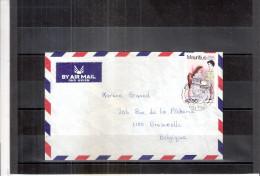 Belle Petite Lettre De Mauritius Vers La Belgique (à Voir) - Maurice (1968-...)
