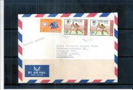 JO Los Angeles 1984 - Boxe - Lettre De Tanzanie Vers La Suisse (à Voir) - Summer 1984: Los Angeles
