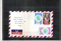 Lettre Du Vanuatu Vers La Suisse 1980 (à Voir) - Vanuatu (1980-...)