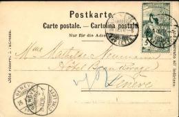 SUISSE - Carte Postale De Genève Pour Genève En 1900 - A Voir - L 1104