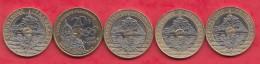 5 Pièces De 20 Francs 1992 (V -FERME) 1992 (V- OUVERT) 1993-1994-1995 Dans L ´état - L. 20 Franchi