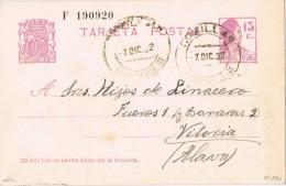 18923. Entero Postal Republica COMILLAS (Santander) 1932.  Edifil Num 69 - Enteros Postales