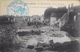 C.P.A. - N° 874 - La Grande Guerre 1914-1915 - En Champagne - SUIPPES Bombardé - Tampon Militaire - En Bon état - Guerre 1914-18
