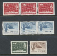 Sweden 1958 Facit # 488-491, Sea And Helicopter Mail.  MNH (**) - Nuovi