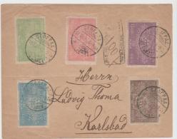 Ser002a / Karageorg Petrovitsch Dynastie 1904. Einschreiben Nach Karlsbad (Böhmen) - Serbien