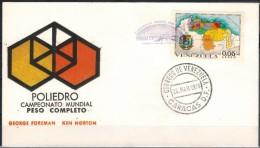 VENEZUELA 1974 - Beleg Mit MiNr: 1838  Boxkampf Foreman-Norton - Venezuela