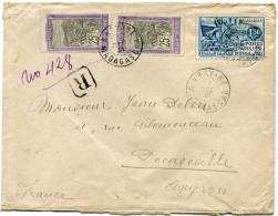 MADAGASCAR LETTRE RECOMMANDEE DEPART NOSY-BE 7 DEC 31 MADAGASCAR POUR LA FRANCE - Madagascar (1889-1960)