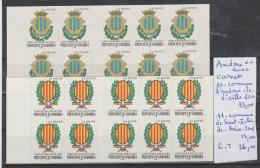 TIMBRES DE L ANDORRE  ** LUXE  CARNET NR 10-11 COTE  26€ - Carnets