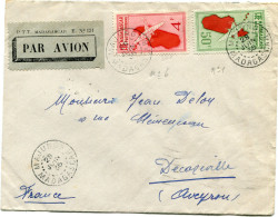 MADAGASCAR LETTRE PAR AVION DEPART MAJUNGA 28 JUIN 35 MADAGASCAR POUR LA FRANCE - Madagascar (1889-1960)