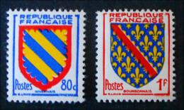 ARMOIRIES DE PROVINCES 1954 - NEUFS ** - YT 1001/02 - Unused Stamps