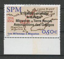 ..RARE.. SPM MIQUELON 2004 N° 819 ** Neuf = MNH Superbe  Cote 50 € Ière Liaison Postale Rame  Terre Neuve Gri - Neufs