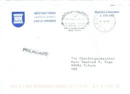 Tschechische Republik Hronov MWST 2000 Posthorn Girlande Stadtverwaltung Gebäude - Ganzsachen