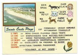 CP CHOIX MULTIPLE STE SAINTE CECILE PLAGE, VUE GENERALE DE LA PLAGE, CAMIERS, PAS DE CALAIS 62 - Autres Communes