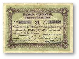 TIMOR - 1 Pataca - 1.1.1910 - RARE - P 1 - Portugal - Timor