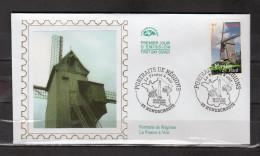 """FRANCE 2004 : Enveloppe 1er Jour En Soie N° YT 3706 """" LA FRANCE A VOIR 2004 : MOULIN DU NORD """" En Parf état. FDC"""