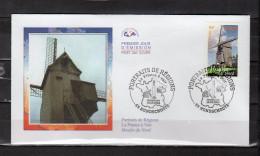 """FRANCE 2004 : Enveloppe 1er Jour N° YT 3706 """" LA FRANCE A VOIR 2004 : MOULIN DU NORD """" En Parf état. FDC"""