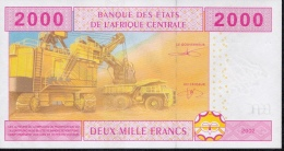 C.A.S. Letter A For GABON P408Ac 2000 FRANCS 2002 Signature 11  UNC. - Gabon